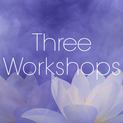 3 WORKSHOPS: April 13/14, July 13/14, October 19/20